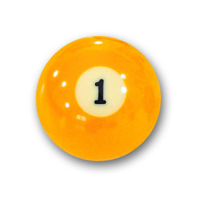 "Billardkugel Nr.1  Pool-Ball ""Favorite"" Nr. 1..."