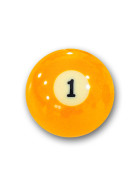 "Billardkugel Nr.1  Pool-Ball ""Favorite"" Nr. 1  (12J201)"