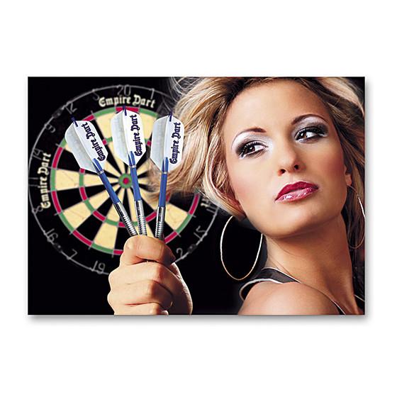 """Dart-Poster """"Dart Woman"""" DIN A2"""