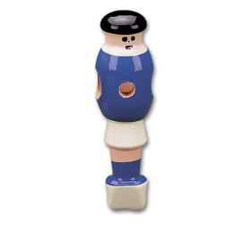 Holz-Figur Blau Zylinderkopfbohrung