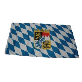 Flagge Bayern mit Wappen 90 x 150 cm