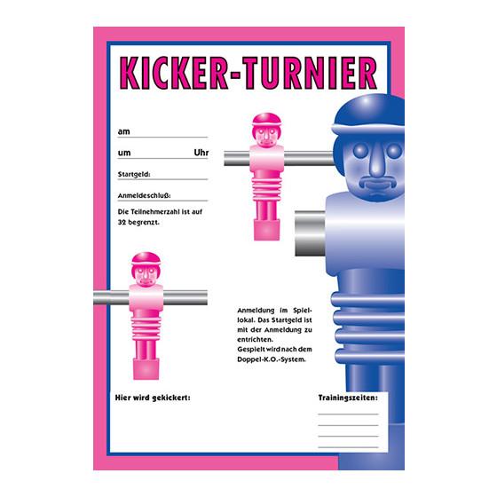 Plakat Außenwerbung Kickerturnier