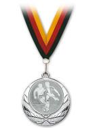 Medaille Fußball Silber mit Band