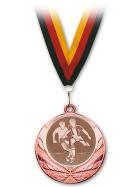 Medaille Fußball Bronze mit Band