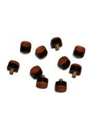 10 Stück Schraubleder mit Messing-Gewinde 12mm