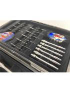 6 Chrom Soft Turnier Dartpfeile in Duo-Box von Empire Dart