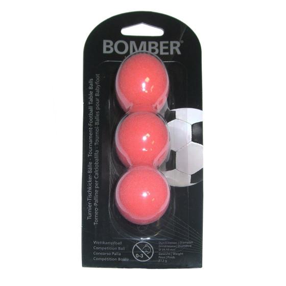 Kickerball Bomber ROBERTSON, rot, 35,1 mm, 3 Stück im Set