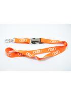 Schlüsselband Audi Ringe Orange