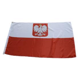 Flagge Polen mit Adler 90 x150 cm