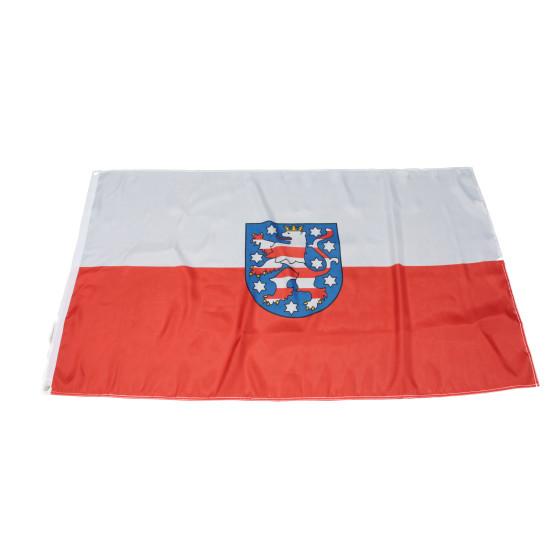 Flagge Thüringen mit kleinem Druckfehler im Wappen 90 x 150 cm