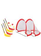 Bandito Funhockey Komplettset mit 2x2er Set Schläger und Pop-up Tor MAXI-Set