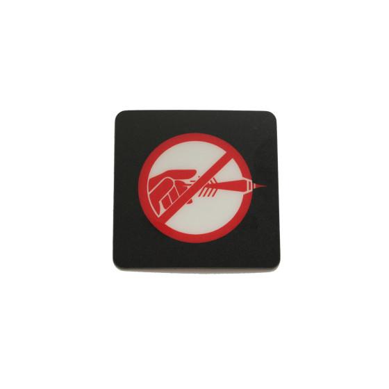 Aufkleber nicht werfen Logo NICHT WERFEN für HB8 und Cougar Dart