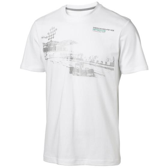 Mercedes AMG Petronas Herren T-Shirt Mens Fan Graphic Tee, Weiß, S, 6000014-2...