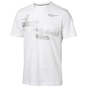 Mercedes AMG Petronas Herren T-Shirt Mens Fan Graphic Tee, Weiß, S, 6000014-2...