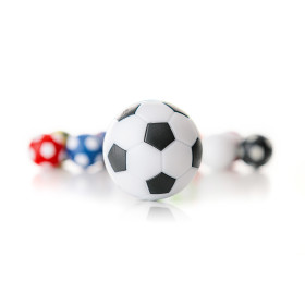 Kickerball weiß/schwarz 35mm hart-griffig