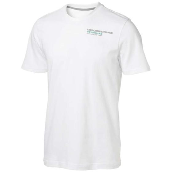 Mercedes AMG Petronas Herren T-Shirt Mens Fan Tee, Weiß, M, 6000013-200-225