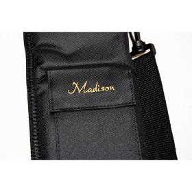 Queuetasche Madison Nylon schwarz mit Tragegurt