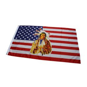 Sonderposten 100 Flaggen USA mit Indianer 90 x 150 cm