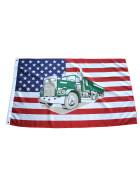 Sonderposten 100 Flaggen USA mit Truck / LKW  90 x 150 cm