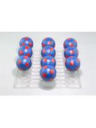 Kickerball Winspeed by Robertson 35 mm, blau / rot, Set mit 10 Stück