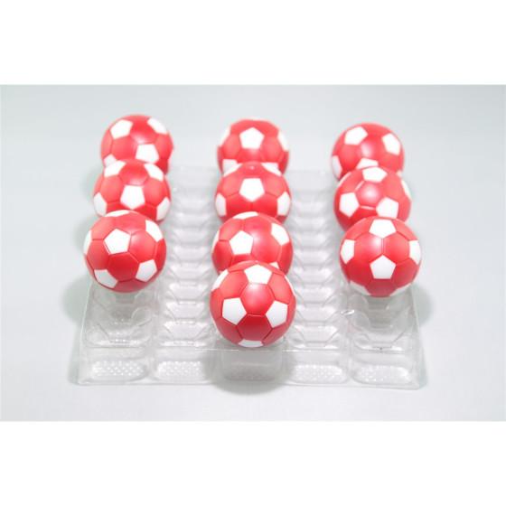 Kickerball Winspeed by Robertson 35 mm, rot / weiß, Set mit 10 Stück