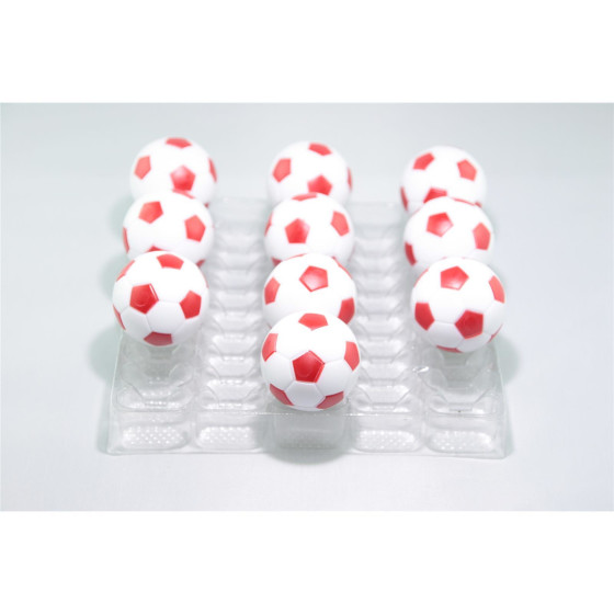 Kickerball Winspeed by Robertson 35 mm, weiß / rot, Set mit 10 Stück