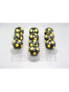 Kickerball Winspeed by Robertson 35 mm, schwarz / gelb, Set mit 10 Stück