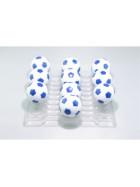 Kickerball Winspeed by Robertson 35 mm, weiß / blau, Set mit 10 Stück