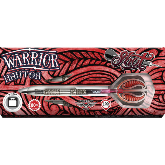 Shot Soft Dartpfeile Warrior Hautoa 80%Tungsten Dart 20g