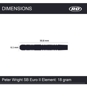 Red Dragon Softdarts Peter Wright Euro 11 Element 18g