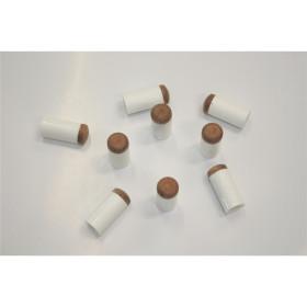 Aufsteck-Ferrulen mit Klebleder 13mm (10 Stück)