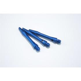 Bull´s Schäfte Aluminium Simplex Short 35 mm blau