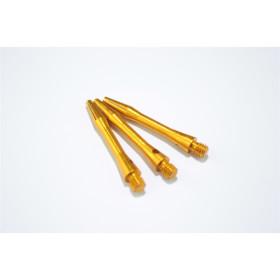 Bull´s Schäfte Aluminium Simplex Short 35 mm gold