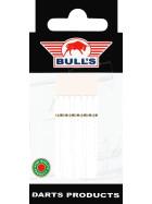 Bull´s Schäfte Nylon Medium mit Ring weiß (5er Pack)