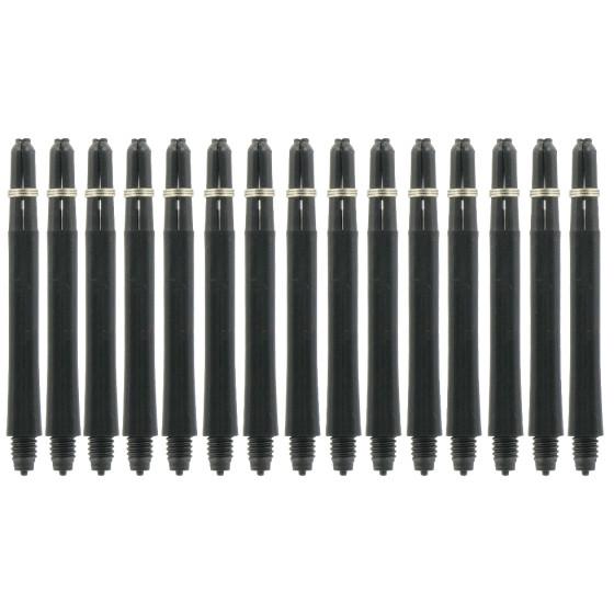 Bull´s Schäfte Nylon Medium mit Ring schwarz (5er Pack)