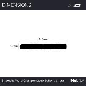 Red Dragon Steeldarts Peter Wright Snakebite World Champion 2020 Edition  25g