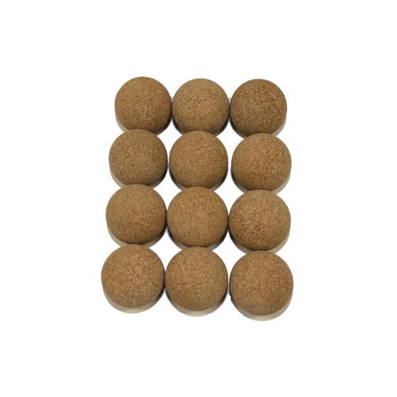 12 Kickerbälle Kork natur Ø 35 mm sehr leise im Spiel