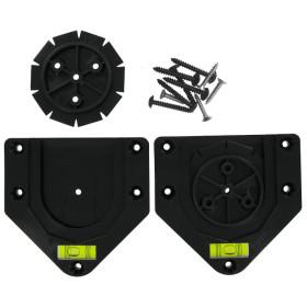 BULLS Easy Clic Bristle Board Wandhalter, schwarz mit...