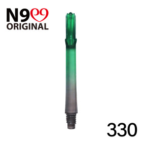 L-Style L-Shaft N9 Gradient Clear Black/Green 330 33mm (3 Stück)