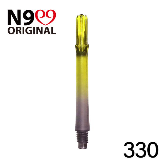 L-Style L-Shaft N9 Gradient Clear Black/Yellow 330 33mm (3 Stück)