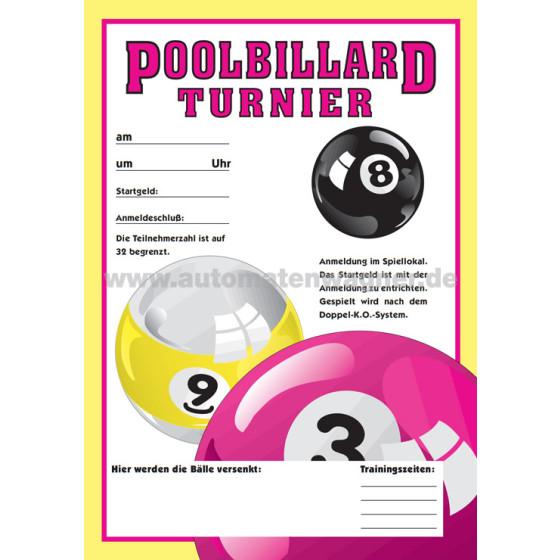 Plakat Aussen-Werbung Pool-Billard