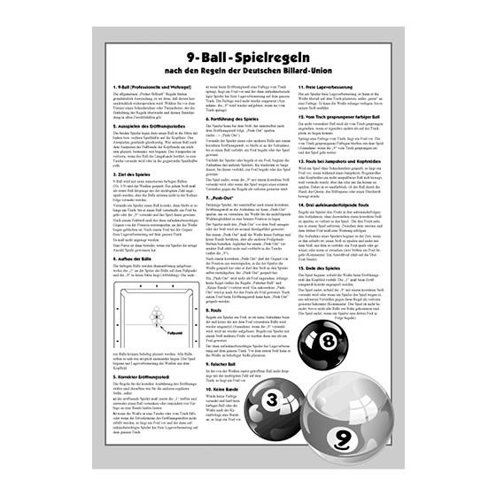 Turnier-Regeln Poolbillard 9-Ball