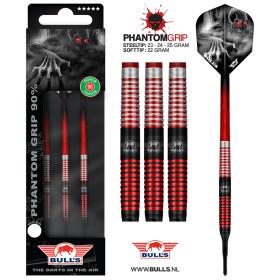 Bull´s Softdarts Phantom Grip Red 90% Tungsten Dart...