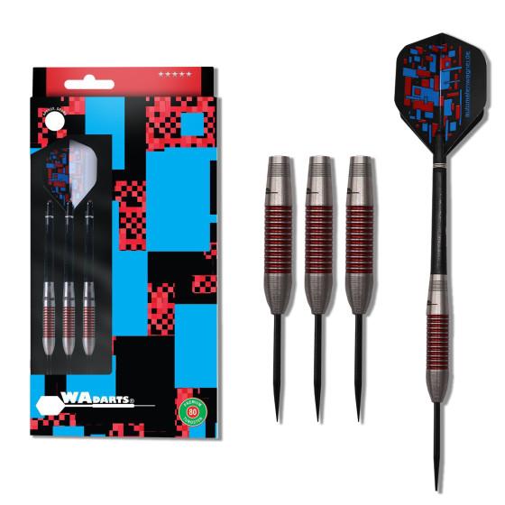 WA Darts Steeldarts Red Torpedo-Darts 80% Tungsten 21g