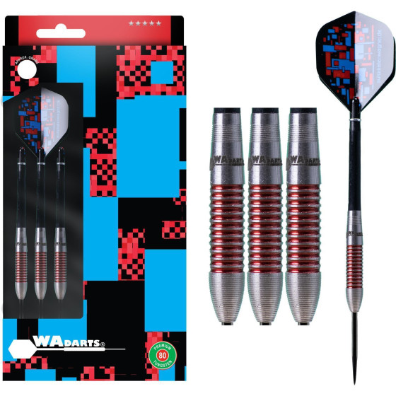 WA Darts Steeldarts Red Torpedo-Darts 80% Tungsten 23g