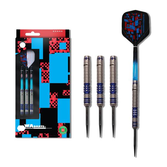 WA Darts Steeldarts Blue Power-Darts 80% Tungsten 22g