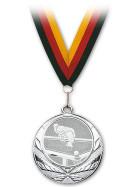 Medaille Pool-Billard silber mit Band