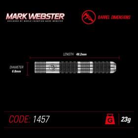 Steeldart Winmau Mark Webster 90% Tungsten 23g