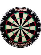 McKicks Lightning Pro Dartboard + 6 WA Steeldarts Messing