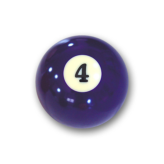 "Billardkugel Nr.4  Pool-Ball ""Favorite"" Nr. 4  (12J204)"